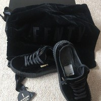 Puma Fenty Creepers Velvet In Black Size 5