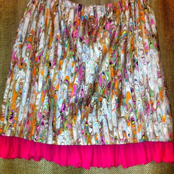 Gypsy Plantation vintage reconstructed repurposed upcycled mori girl skirt size 14 large