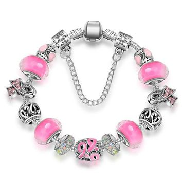 New Statement Awareness Charm Bracelet