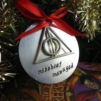 Mischief Managed Christmas Tree Ornament - Harry Potter Inspired Geekery