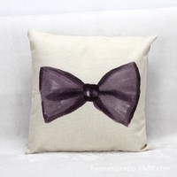 Black Bowknot Cushion Cover