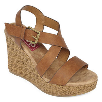 Pop Soar Strap Wedge Sandals