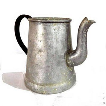 Rustic shabby vintage metal coffee pot