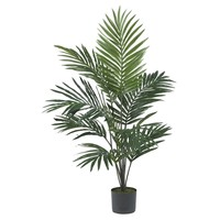 SheilaShrubs.com: 5' Kentia Palm Silk Tree 5296 by Nearly Natural : Artificial Flowers & Plants