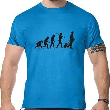Evolution Of The Pilot print o neck T shirt