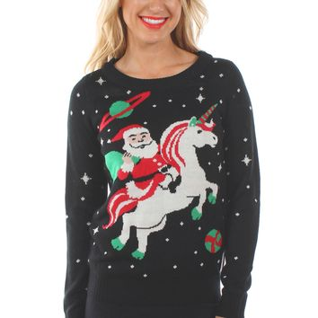 Women's Santa Unicorn Sweater
