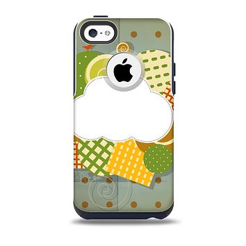 Green Plaid & Polka Dotted Cloud Collage Skin for the iPhone 5c OtterBox Commuter Case