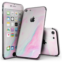 Marbleized Soft Pink - 4-Piece Skin Kit for the iPhone 7 or 7 Plus
