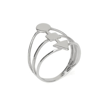Geometric Statement Ring in Silver 925