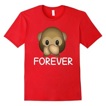 Best Friends Forever Speak No Evil Monkey Emoji T-shirt.