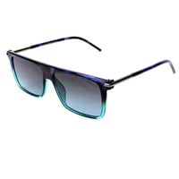 Square Transparent Fade Sunglasses by Marc Jacobs