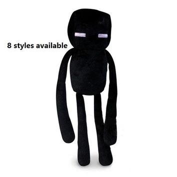 1Pcs New arrive Various Animal Plush Toy Green Zombie & Cooly creeper JJ & Bat & Ghast & Enderman soft stuffed doll kid toy gift
