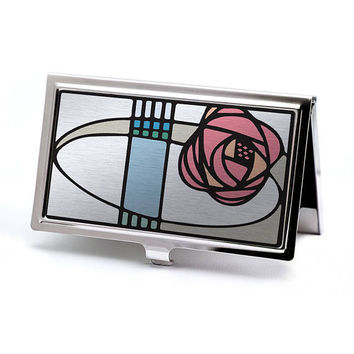 Art Nouveau Mackintosh Rose Business Card Case