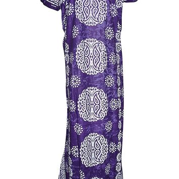 Womens House Dress Nightgown Printed Cotton Maxi Kaftan Housedress large: Amazon.ca: Clothing & Accessories