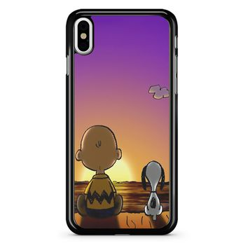 Snoopy And Charlie Brown Sunset iPhone X Case