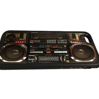 Boombox Ghetto Blaster Funny Iphone 6 Case, Iphone Cover, Flexible TPU rubber case Black - All Carriers