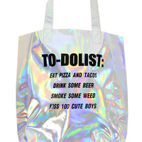 TO DO LIST HOLOGRAM TOTE