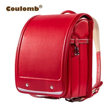 Coulomb Kid Orthopedic School Bag Children Backpack For Girl And Boys Students Bookbags Japan PU Japanese Randoseru Backpack Hot