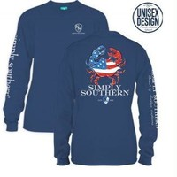 *Closeout* Simply Southern Long Sleeve Tees- CRAB