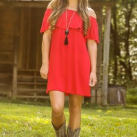 See Me Smile Dress-Red
