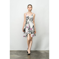 Summer Floral Two Pleat Dress