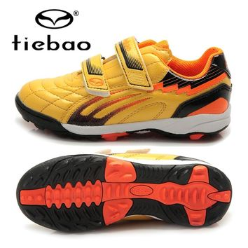 TIEBAO Professional Boys Soccer Cleats Shoes TF Turf Soles Football Soccer Shoes Hard Court Sneakers Trainers Football Boots