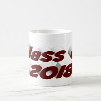 Class of 2018 3D Mug, Burgundy Coffee Mug