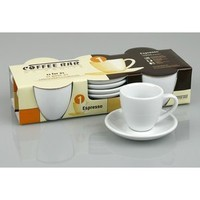 Walmart: Konitz Coffee Bar 2 oz. Espresso Cup and Saucer (Set of 4)