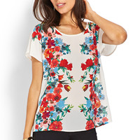 Rich Bouquet Woven Top