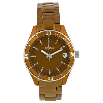 Fossil Riley Mini Brown Aluminium Ladies Watch ES2930