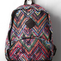 Multicolor Mesh Tribal Backpack