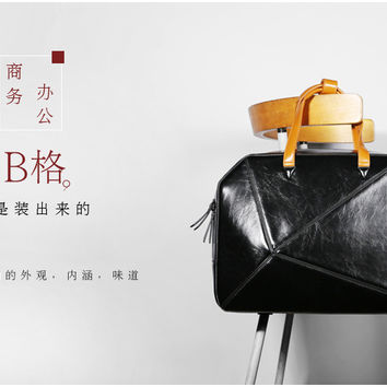 For Macbook air/pro laptop bag,High Quality Patent leather Recreation bag,High-end custom laptop handbag.