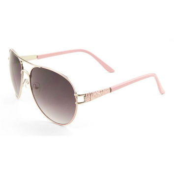 Ladies Metal Aviator Sunglasses