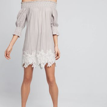 Madge Off-The-Shoulder Swing Dress