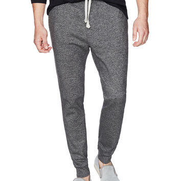 Wings + Horns Men's Heavyweight Marled Jersey Pants - Dark Grey -
