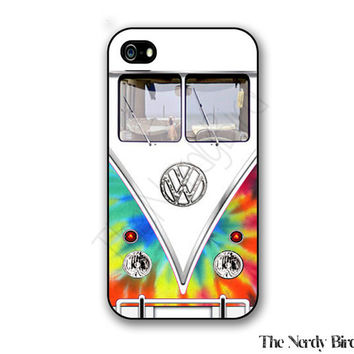 Tye Dye Volkswagen Bus iPhone 4, 5, 5c 6 and 6 plus and Samsung Galaxy s3, s4 and s5 Phone Case
