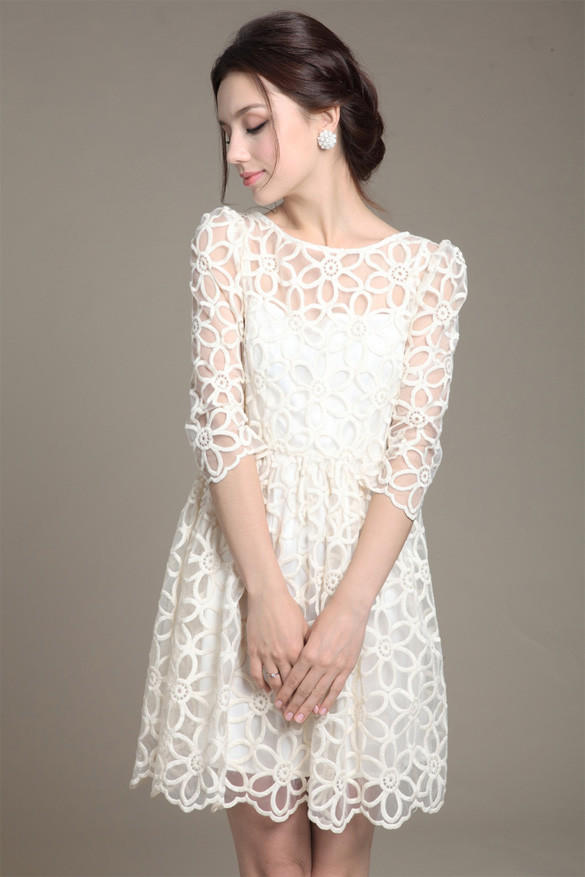 d1fb402b4cacf Long Sleeve White Lace Dress For Juniors - Photo Dress Wallpaper HD AOrg