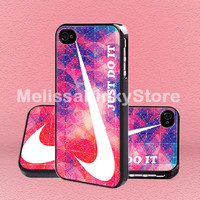 Nike Just Doit triangel - Print on Hard Cover - iPhone 5 Case - iPhone 4/4s Case - Samsung Galaxy S3 case - Samsung Galaxy S4 case