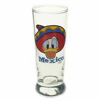 disney parks epcot donald duck with sombrero mexico shot glass new