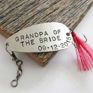 Grandpa of the Bride Gift Wedding Day Gift for Grandpa Fishing Lure Grandfather of the Bride Grandpa of the Groom Grandma Gift Grandmother