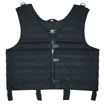 Black Color MOLLE System Tactical Vest,Paintball Airsoft Combat Army Vest Hiking Hunting Camoflage Molle Vest