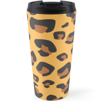 Animal Print, Spotted Leopard - Brown Black