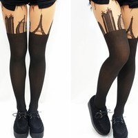 World Famous Buildings Knee High Tights