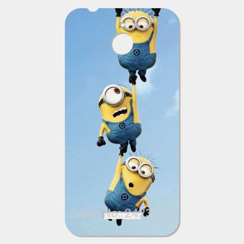 Lovely Minion Patterned Cover mobile phone case For HTC Desire 510 626 616 10 Pro 830 One M10 M9 Plus M8 mini M7 M4 X9 A9 E9 Max