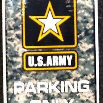 "Army 12""x18"" CAMO Style Metal Embossed Parking Sign US United States Military"