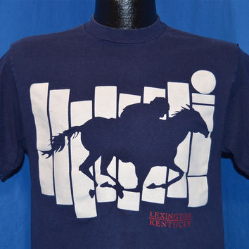 80s Lexington Kentucky Derby Horse Race t-shirt Medium