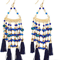 Rosantica - Kilimanjaro tasseled gold-tone beaded earrings