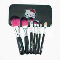 VONE7HQ Hello Kitty 7Pcs Mini Pro Makeup Brushes Set