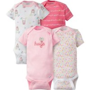 Gerber 4 Pack Assorted Pattern Bodysuits