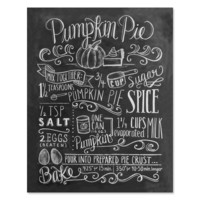 Pumpkin Pie Recipe - Print & Canvas